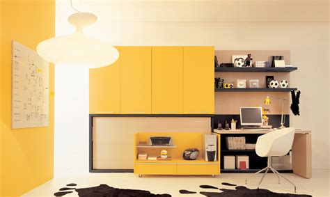 Bedroom Magnificent Yellow Theme Interior Design Using Bedroom Cabinet Design Ideas For Small Spaces