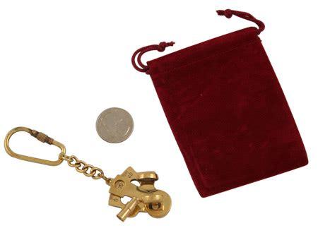 sextant keychain brass sextant keychain