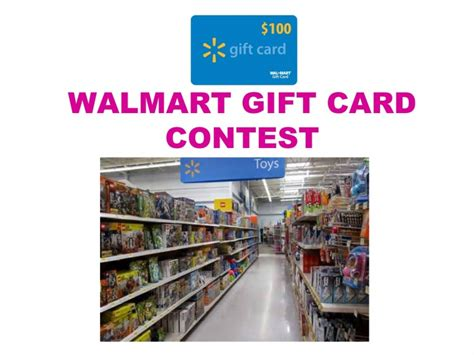 100 Walmart Gift Card - 100 walmart gift card contest entertain kids on a dime