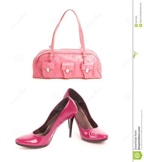 shoes with handbag stock photo image 5814100