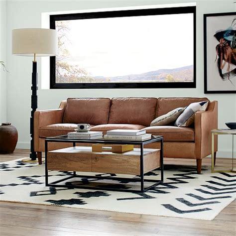 west elm hamilton leather sofa hamilton leather sofa 81 quot west elm