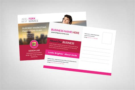 marketing postcard templates 20 advertising postcard templates free sle exle