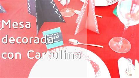 decoracion para cartulinas 3 ideas f 225 ciles para decorar la mesa de navidad 161 con