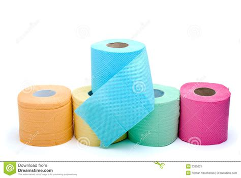 colored tims different colored toilet paper stock image image 7325621