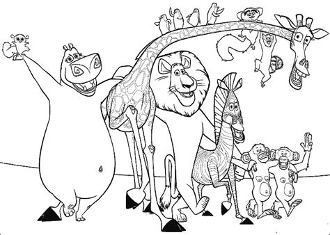 imagenes de jirafas de madagascar personajes de madagascar jirafa zebra leon monos y