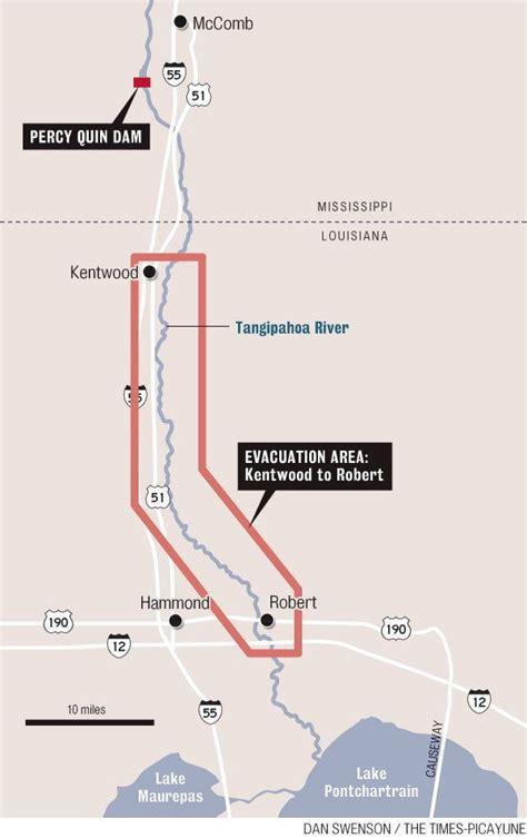 map louisiana dams isaac threat of dam failure prompts mandatory evacuation