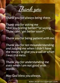 Thank You Letter Friend Quotes Quotes And Poems Family Amp Friendship 2