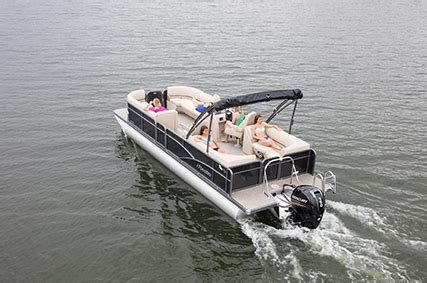charleston boat club 2018 manitou tritoon aurora w stern radius seating boat