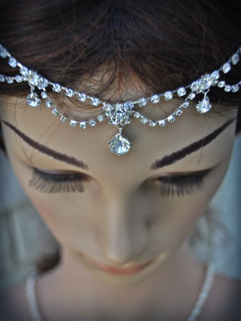 hair jewelry for a wedding wedding tikka headpiece indian inspired crystal