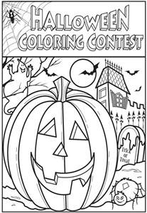 halloween coloring contest contest amp games thepress net
