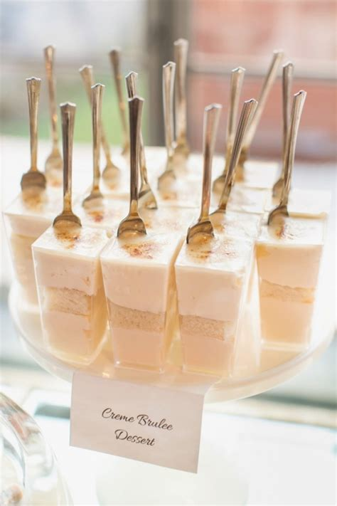creme brulee dessert recipe in a shot glass delicious glass wedding dessert ideas
