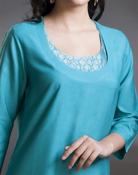 neck pattern of kurti stylise yourself with this long kurta made using tussar