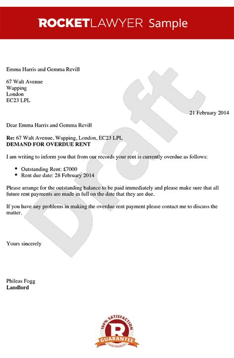 Urgent Payment Request Letter Rent Demand Letter Create An Overdue Rent Letter