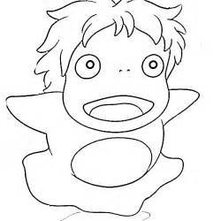 gallery gt ponyo coloring pages