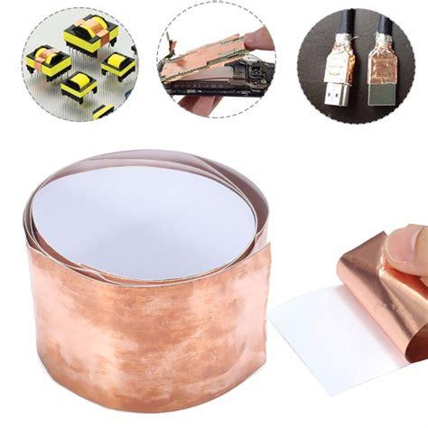 1 Meter 50mm Copper Foil Isolasi So Kode Fd9990 1 5cm x 1m emi copper foil shielding 50mmx1m low impedance conductive adhesive alex nld