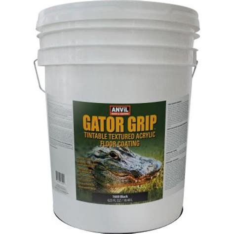 anvil 5 gal black gator grip acrylic textured solid color interior exterior floor coating