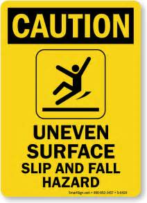 Ladder With Handrail Fall Hazard Signs Trip Hazard Signs Free Shipping