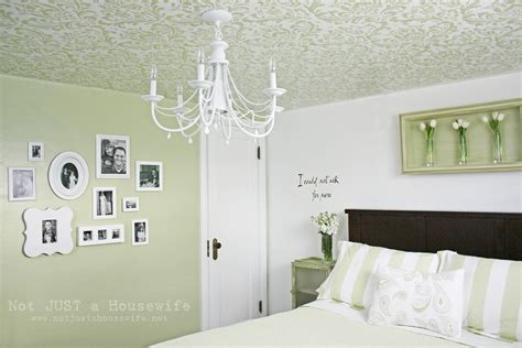 Bedroom Painting Ideas Stencils Stenciled Ceiling Not Just A