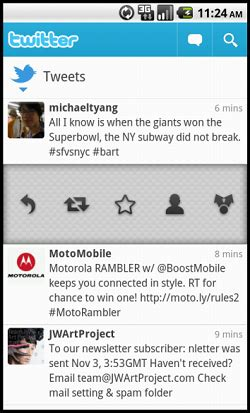 twitter layout android twitter updates android app adds speed and performance