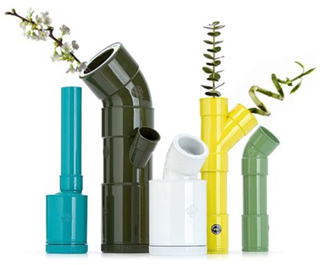diy pvc colorful modern vases from plastic plumbing pipe
