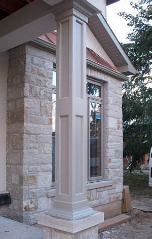 tapered pvc column gallery  elite trimworks