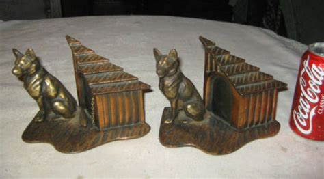 dog house cast german shepherd bookends antiques us