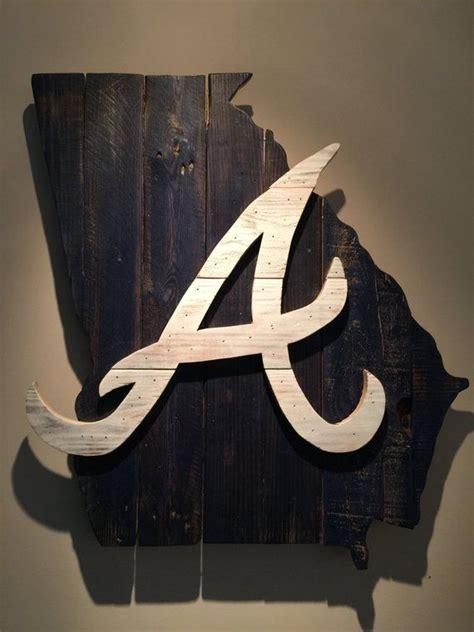 wooden state  georgia  atlanta braves logo