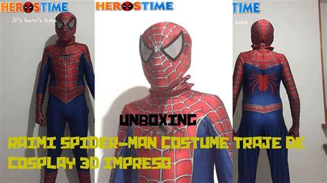 unboxing de raimi spider man costume traje de cosplay