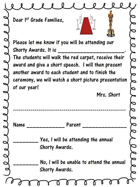Award Ceremony Letter letter award images