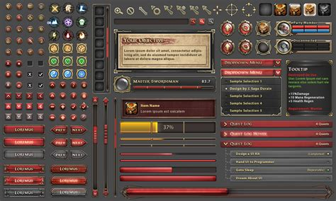 design game gui hieophb jpg 1280 215 768 game ui pinterest game ui