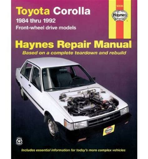 what is the best auto repair manual 1992 pontiac bonneville interior lighting toyota corolla 1984 1992 automotive repair manual sagin workshop car manuals repair books