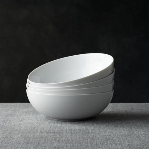 Set Of 4 Bowl set of 4 bistro 8 quot bowls crate and barrel