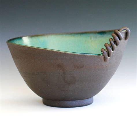 Handmade Clay Pottery - modern handmade ceramic bowl