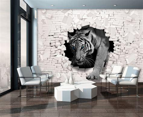 tiger coming   wall