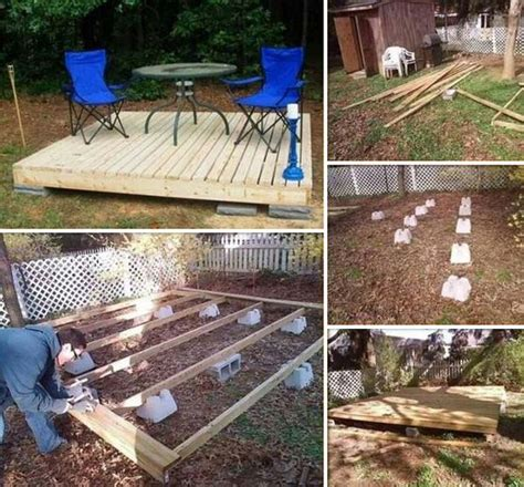 diy backyard deck ideas 15 stunning low budget floating deck ideas for your home