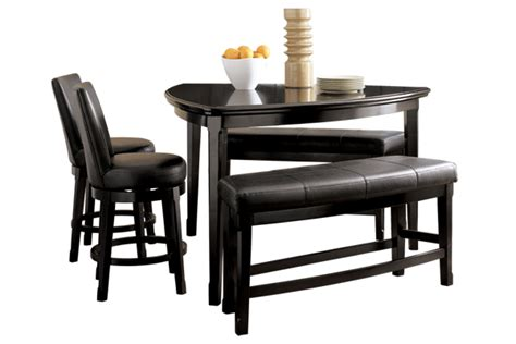 ashley triangle dining table set dining room and dinette super center