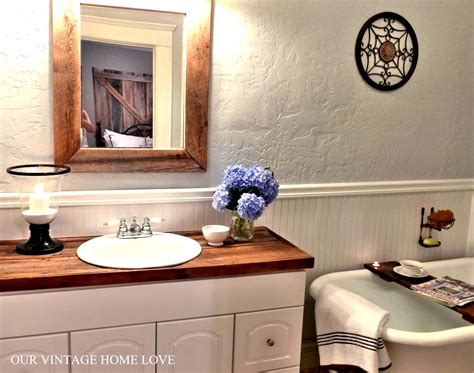 bathroom wood countertop our vintage home love master bath redo featuring
