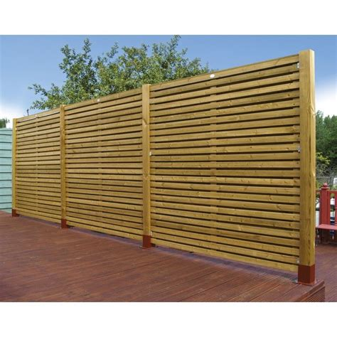 Garden Fence Panels Garden Fencing Wooden Contemporary 6ft Fence Panel 1 8m