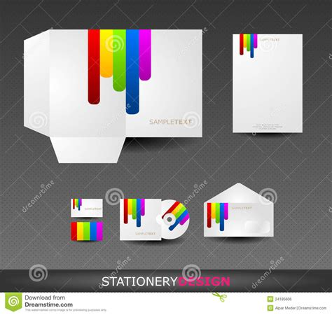 stationery design set in vector format royalty free stock