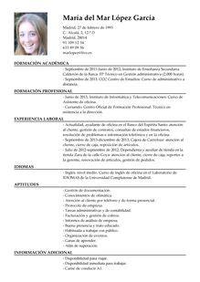 Modelo Curriculum Asistente Administrativo m 225 s de 1000 ideas sobre plantilla cv en