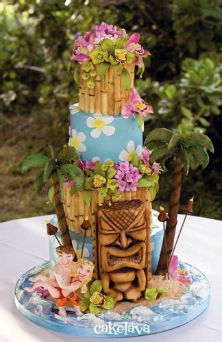 luau wedding cakes pictures southern blue celebrations tropical luau cakes 2