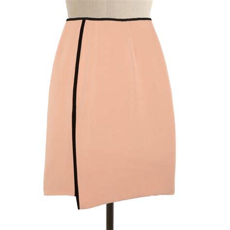 Handmade Skirts - wrap skirt with black border piping custom fit