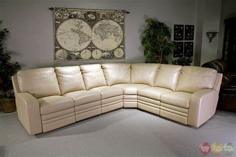 cream leather sectional sofa parker living steinbeck cream top grain leather sectional