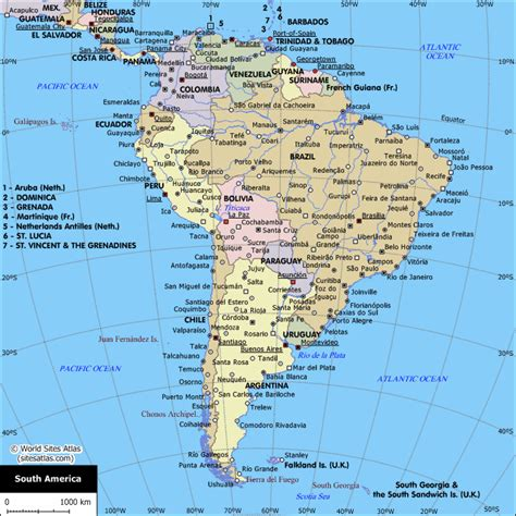 map of south america with cities map of cities in south america south america planetolog