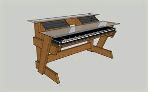 diy studio desk keyboard workstation 100