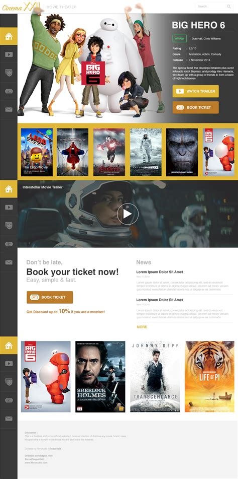 templates for movie website movie cinema website psd template download download psd