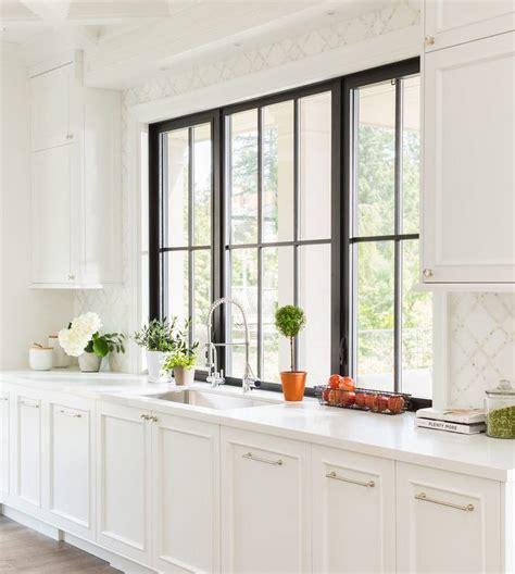 kitchen cabinets with windows black framed windows design ideas