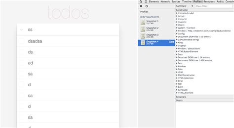 google snapshots javascript backbone js heap snapshot google chrome