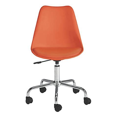 habitat ginnie orange office chair