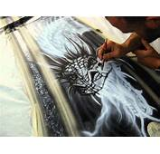 MadMorrells Airbrush &amp Custom Painting BMW Dragon  YouTube